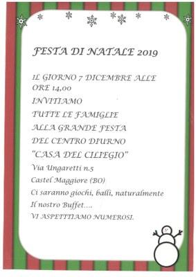 FESTA DI NATALE 7.12.2019 CASA DEL CILIEGIO